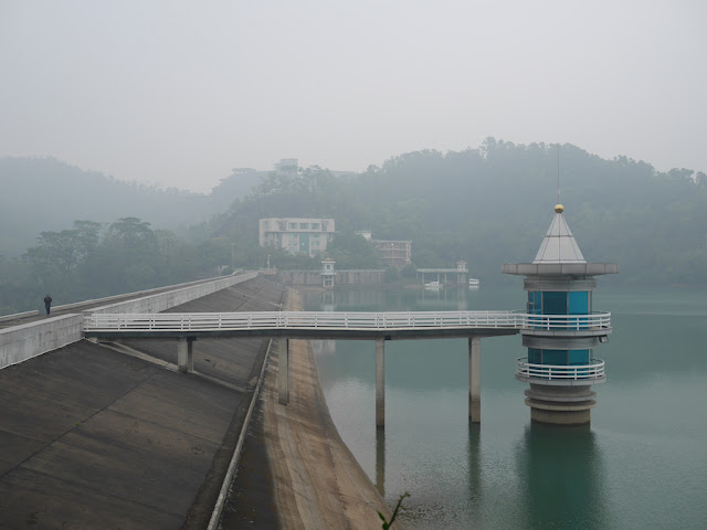 dam at the Changjiang Reservoir in Zhongshan, China