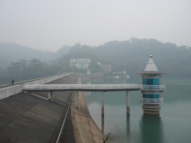 dam at the Changjiang Reservoir in Zhongshan, China