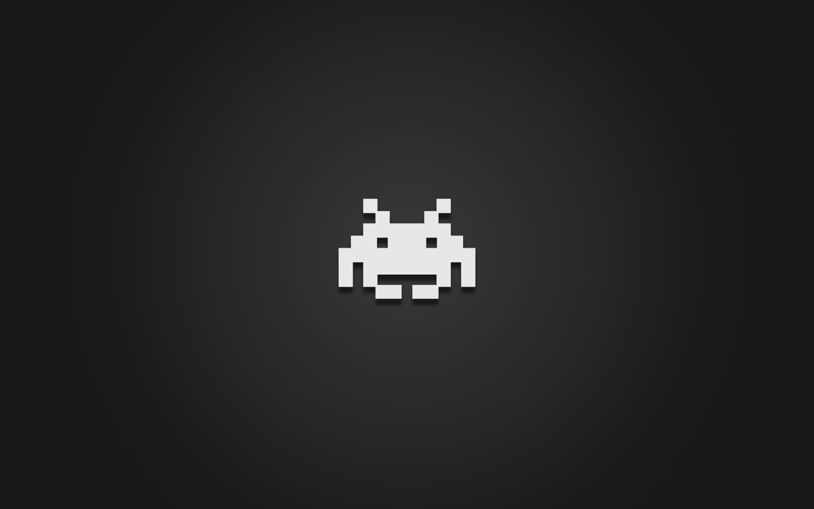 Vintage Arcade Games >> Clean and dark Space Invaders desktop wallpaper