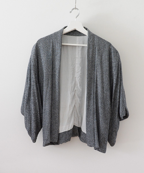 羽織 FUNS ジャケット ジャパンヴィンテージ 60年代 アンティーク着物 Haori Jacket Japanese Vintage 60s Antique Kimono Black White