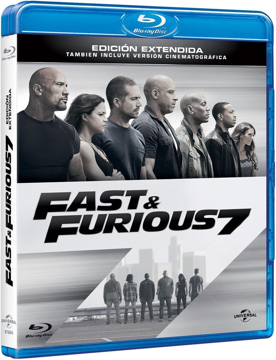 Rapidos y Furiosos 7 (2015) 1080p BD25 Cover Caratula Blu-ray