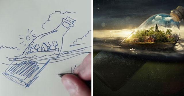 Genio del Photoshop Erik Johansson anuncia como se hacen sus alucinantes imágenes