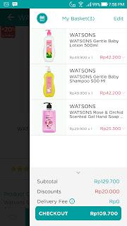 Pengalaman berbelanja di Watson Online