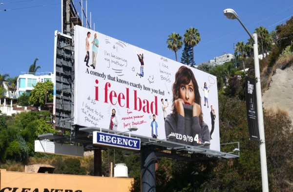 I Feel Bad NBC series billboard
