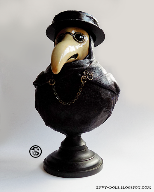 plague doctor bust