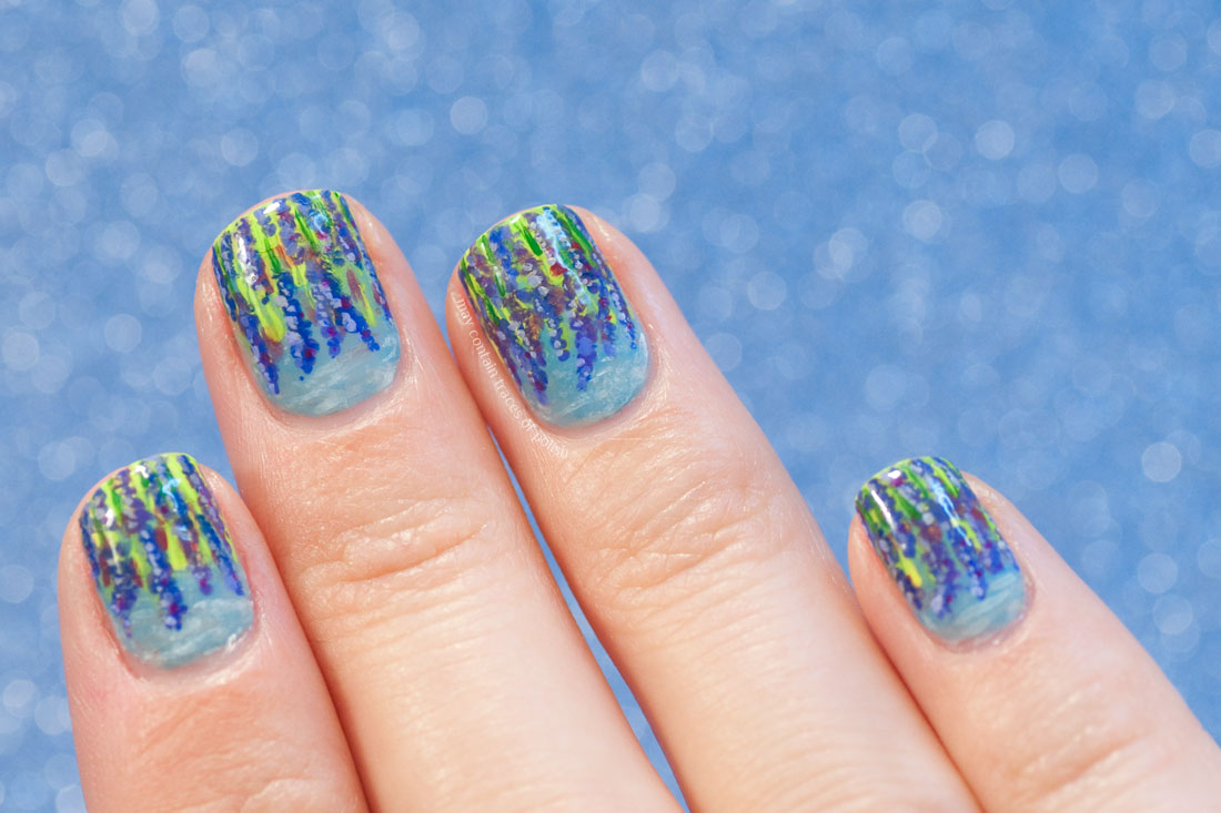 31 Day Challenge, Day 6 Violet Nails - Lavender Nail Art