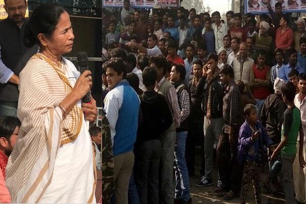 केजरीवाल, ममता बनर्जी की रैली में लगे मोदी मोदी के नारे