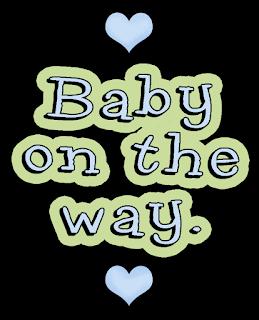 Rótulos y Frases del Clipart Bebé en Camino.