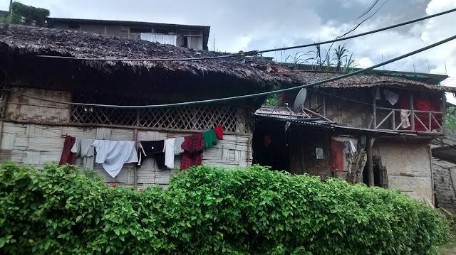 nagaland village mon traditional house