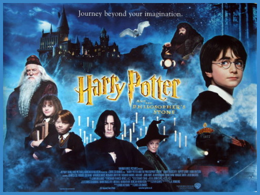 Harry Potter and the Philosopher's Stone. Perfect Autumn or fall movie starring Daniel Radcliffe, Ian Mckellen, Robbie Coltrane, Emma Watson, Rupert Grint and Alan Rickman. Cosy Autumn movie.
