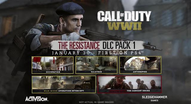 الكشف عن جميع تفاصيل محتوى حزمة The Resistance القادمة للعبة Call of Duty : WWII ...