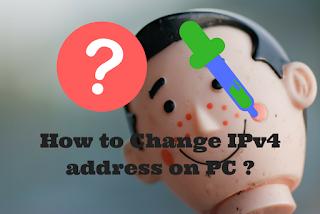 change IPv4 address on PC