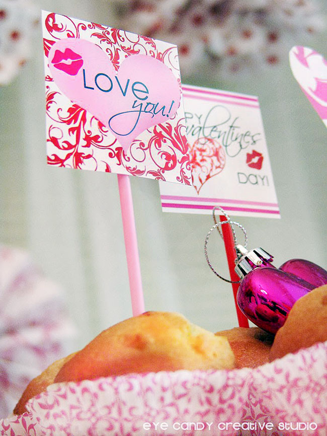 valentines day toppers, love you topper, printables for valentines day