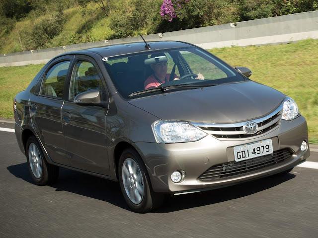 Toyota: quarta marca mais vendida do Brasil em julho de 2016
