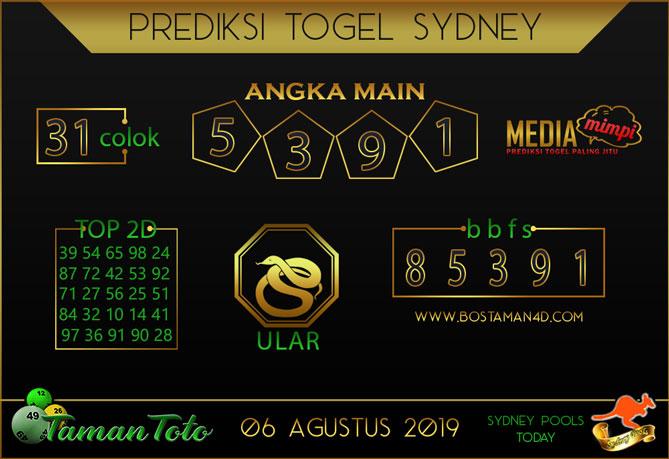 Prediksi Togel SYDNEY TAMAN TOTO 06 AGUSTUS 2019
