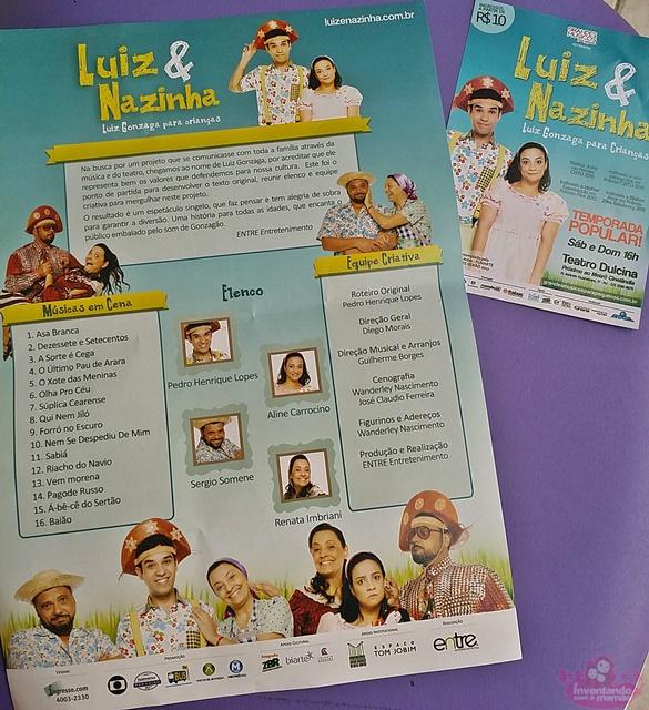Teatro infantil Luiz e Nazinha Luiz Gonzaga para criaças