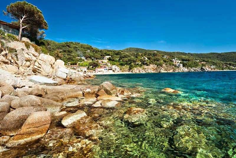 Ilha de Elba na Toscana Itália