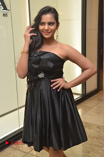 Actress Manasa Himavarsha Pictures in Black Short Dress at The Great Hydrerabad Life Style EXPO II  0038.JPG