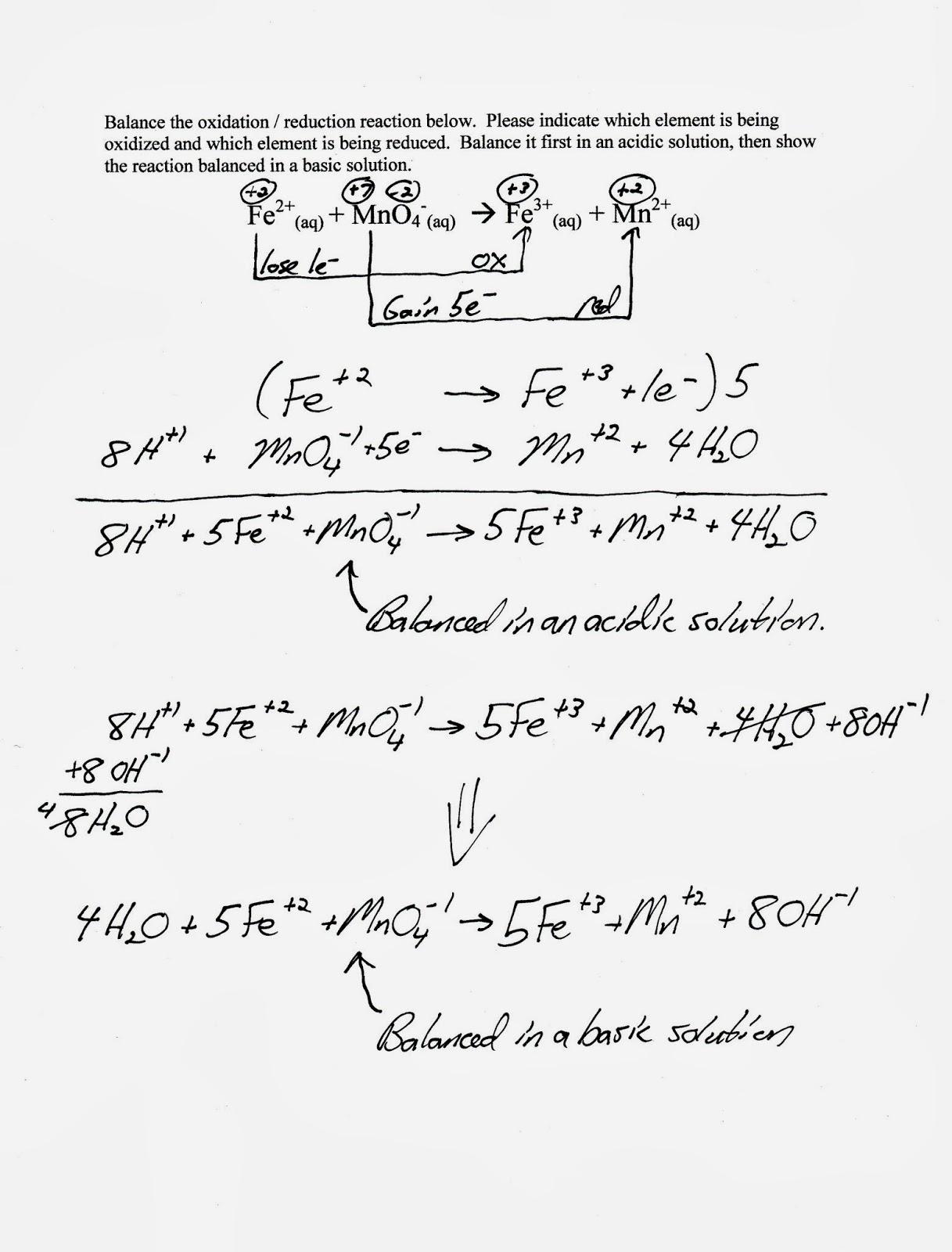Mr Brueckner S Ap Chemistry Blog Chapter 4 And