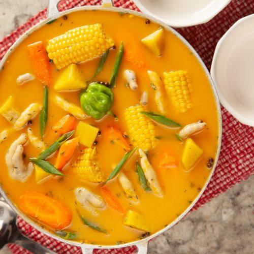 irietropicalbuzz jamaican chicken foot pumpkin soup