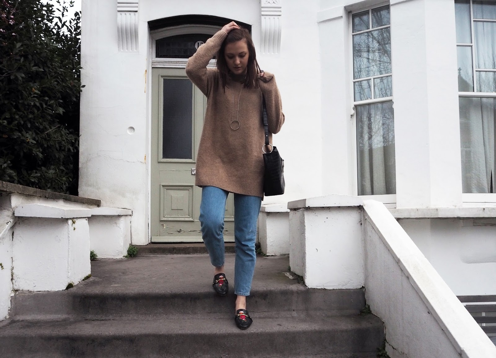 Casual Weekend Style Gucci Dupe Loafers Lauren Rose Style - The Rise Of Gucci // Fashion Blogger Street Style London