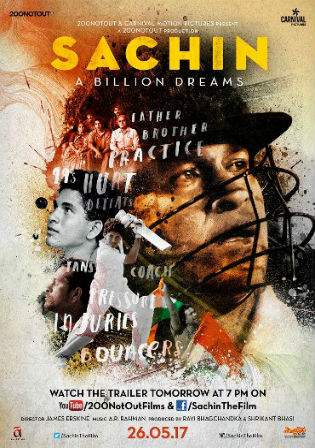 Sachin A Billion Dreams 2017 HDRip 400MB Hindi Movie 480p Watch Online Full Movie Download bolly4u