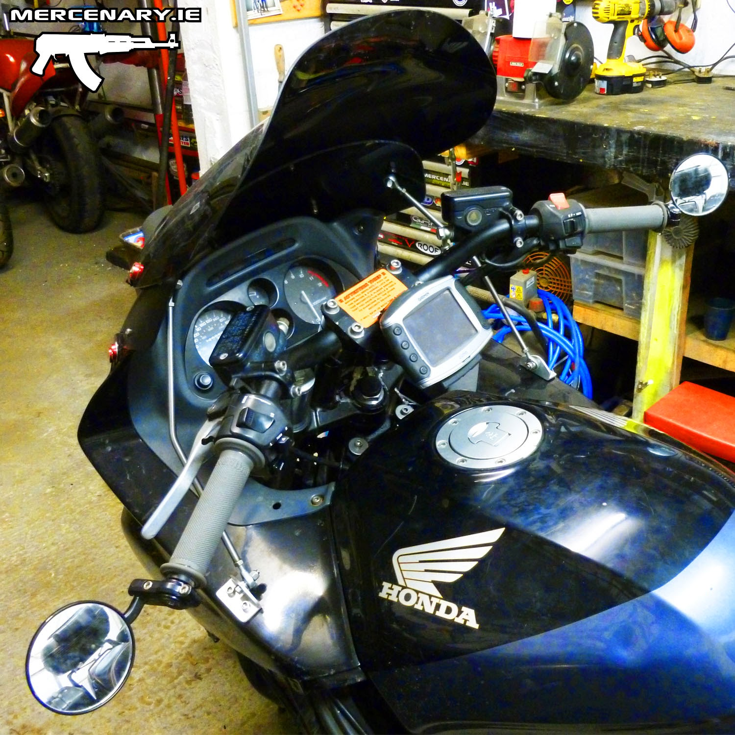 Mercenary garage cbr1000f touring modifications for Garage modification