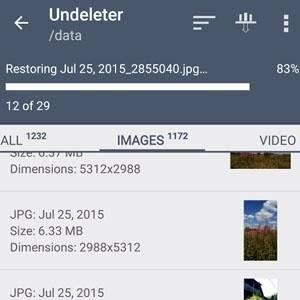 O Undeleter necessita de acesso root e é eficiente