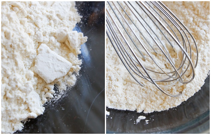 toasted flour for safe-to-eat cookie dough | bakeat350.net
