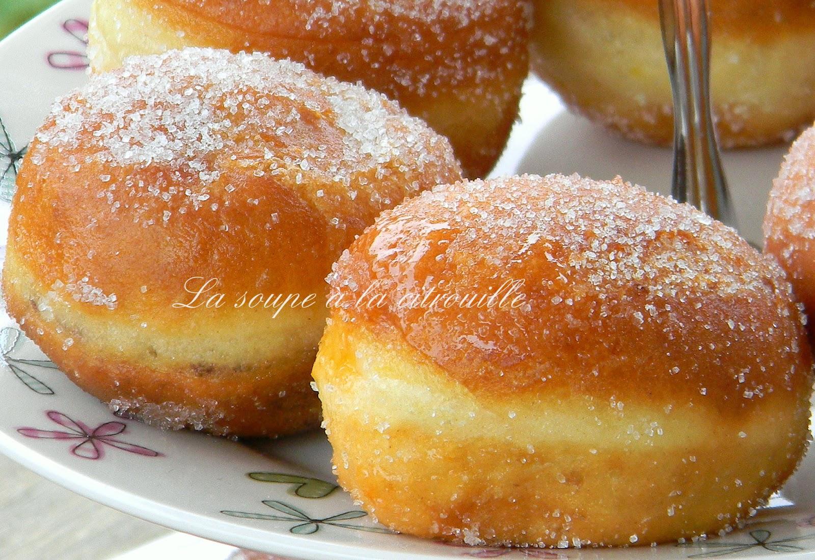 La soupe la citrouille petits beignets la confiture - Pate a beignet avec levure de boulanger ...
