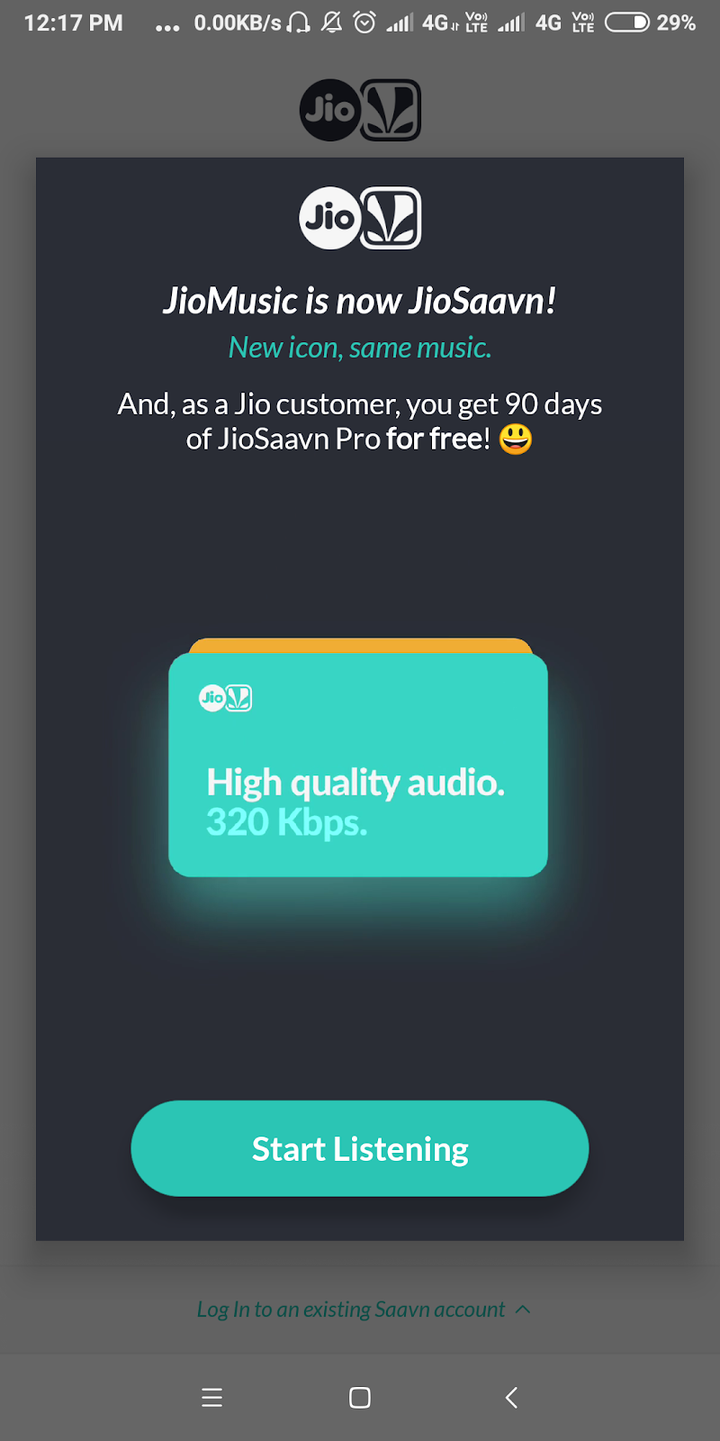 JioSaavn aka Jio music with 90 days premium subscription for