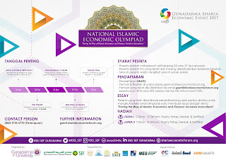 National Islamic Economic Olympiad - GSENT 2017 dari SEF Universitas Gunadarma