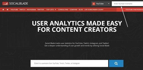 socialblade youtube adsense ad revenue calculator