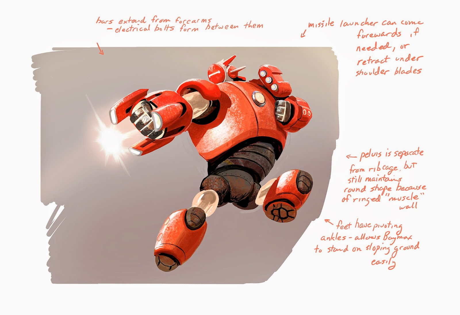 The Art Of Kevin Nelson Some Really Early Baymax Sketches