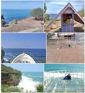 Lokasi Wisata Teras Kaca Pantai Nguluran