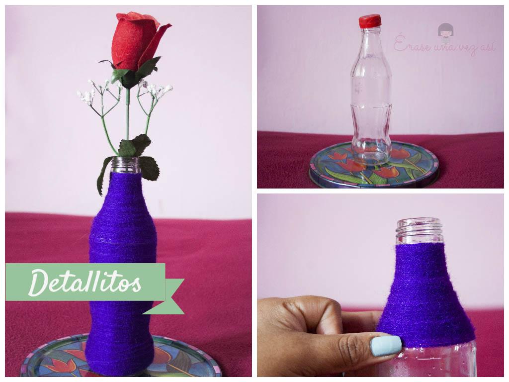 florero de botella decorativa