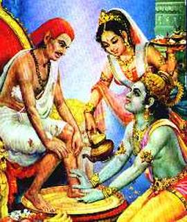 Krishna and Kuchela Picture Kuchela Dinam at Guruvayur Temple