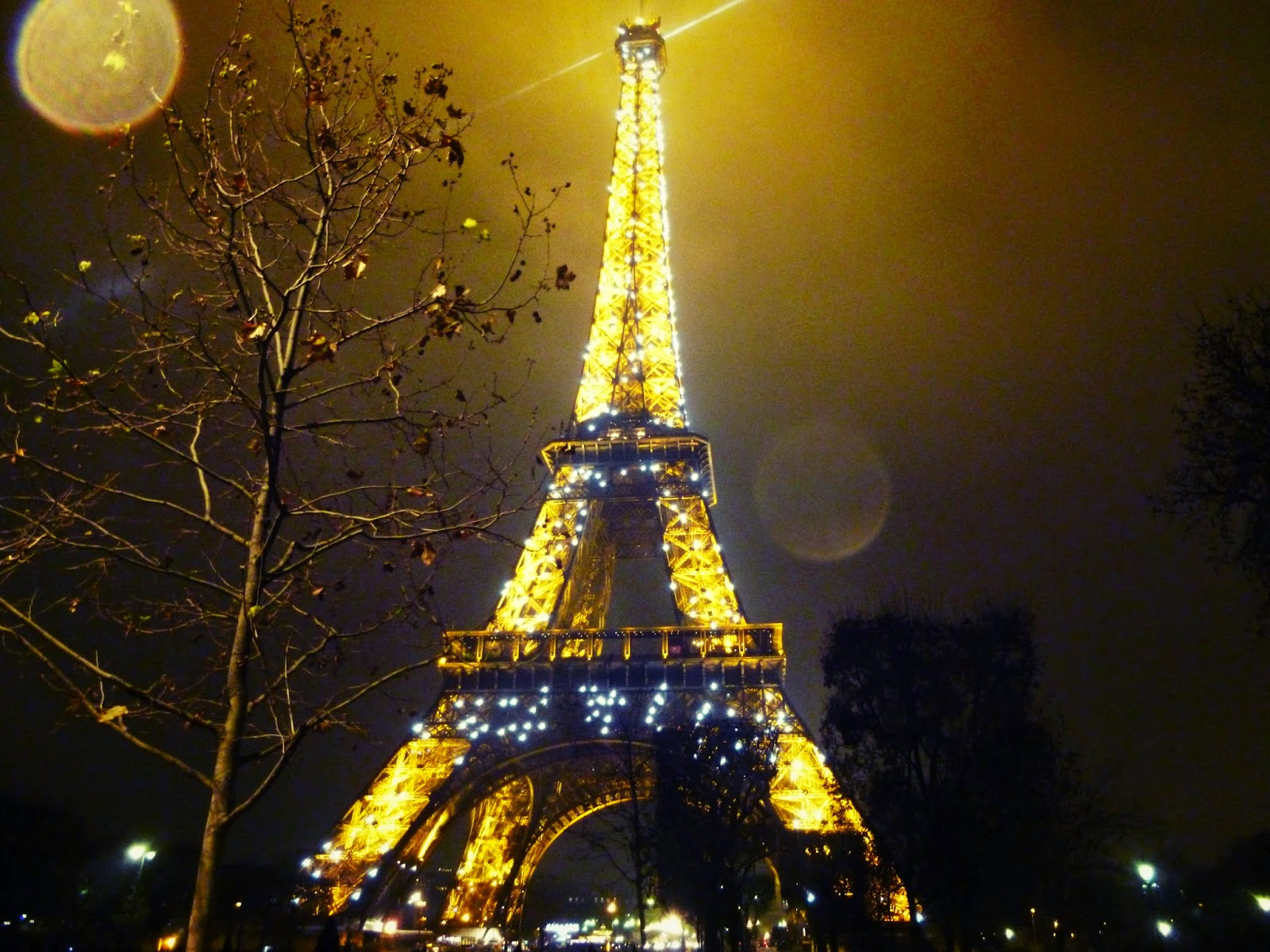 paris eiffel tower night time