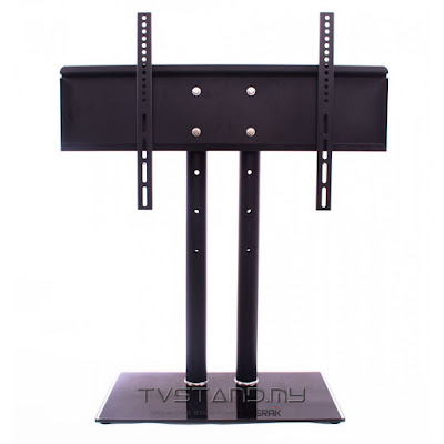 Universal TV Stand/Base + Wall Mount for 26″ – 32″ Flat-Screen TVs – TS206-BLK