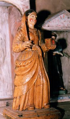 Santa Bárbara en su capilla de Busvidal, Allande