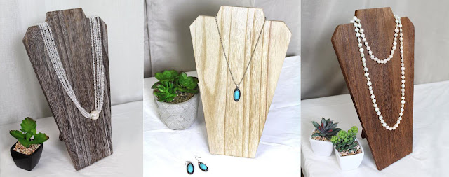 DIY wooden jewelry display bust.