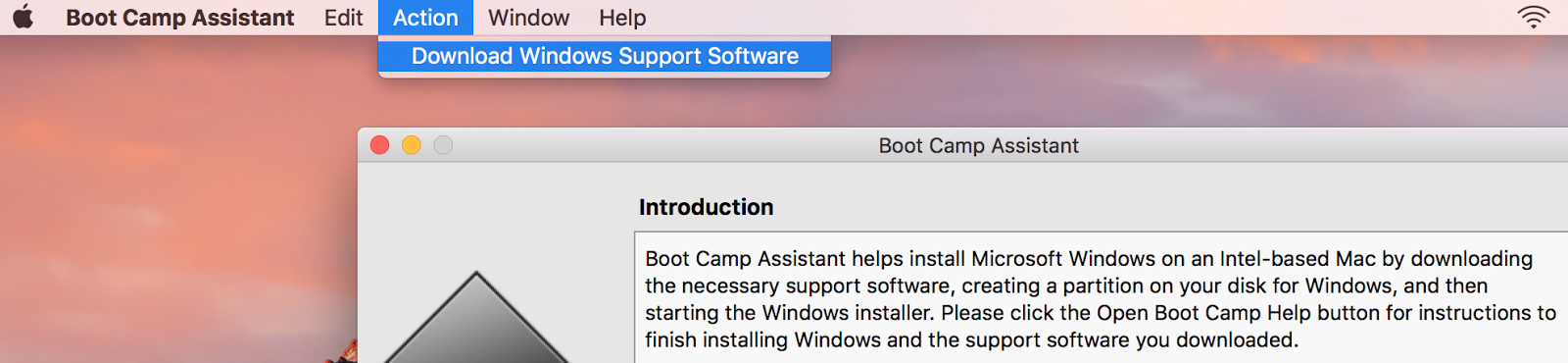 download boot camp software for mac