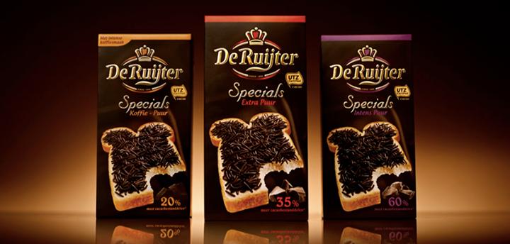 chocolate granulado no café da manhã holandês