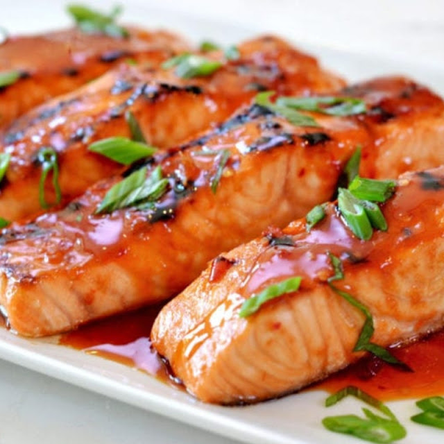 Broiled Salmon With Thai Sweet Glaze