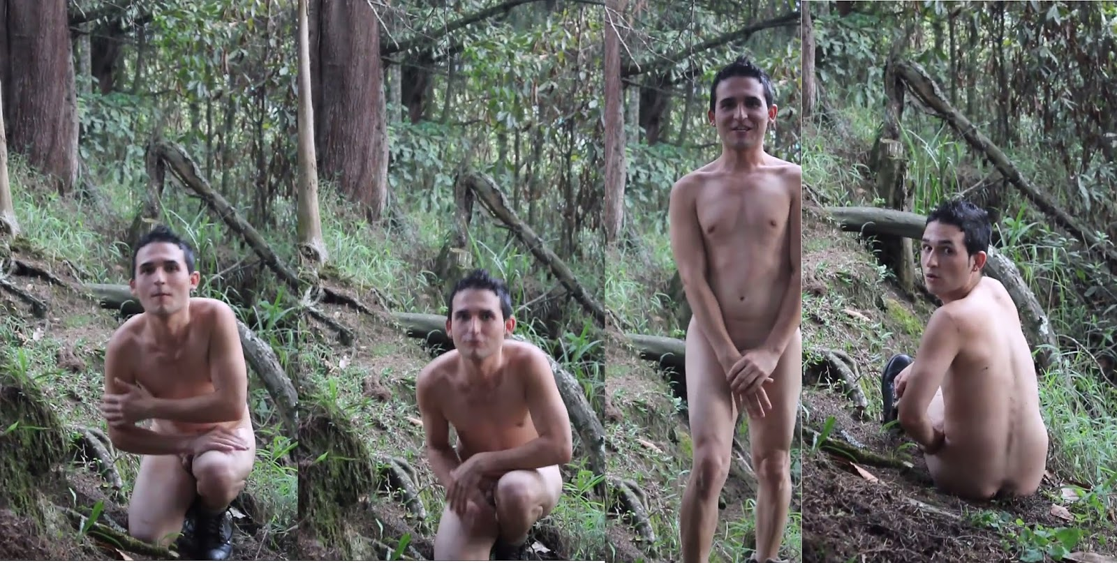 naked twink in forest