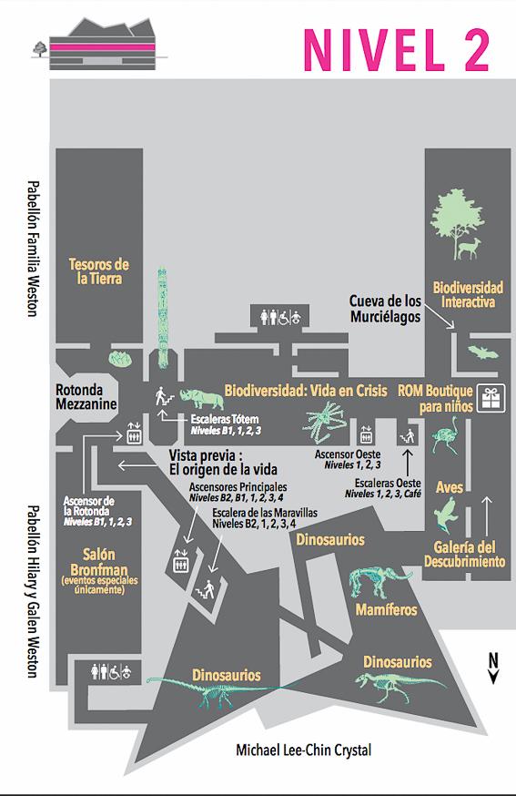 Plano Nivel 2 Royal Ontario Museum ROM Toronto