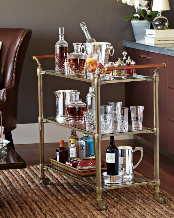 Home Mini Bar Designs: Decorating Inspiration: Bar Carts