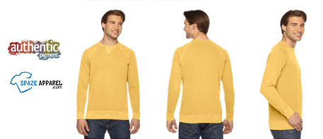 Authentic Pigment Men's French Terry Crew