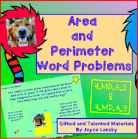 Teaching Power point Area and Perimeter Word Problems