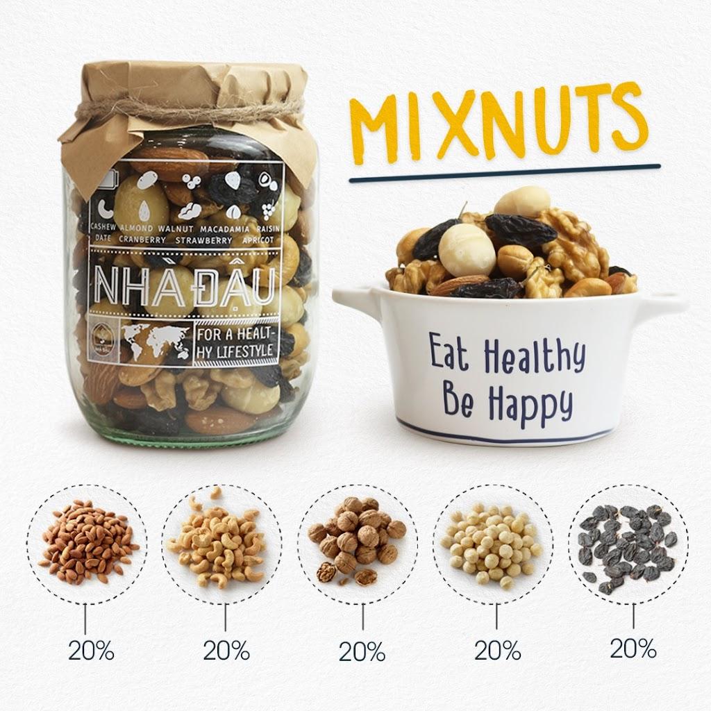 Mixnuts 5 loại hạt Mẹ Bầu nên ăn trong tháng đầu mang thai